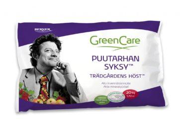 GreenCare Puutarhan SYKSY -lannoite valmistaa kasvit talven tuloon.