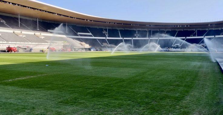 Olympiastadionin kastelulaitteet maaliskuu 2020