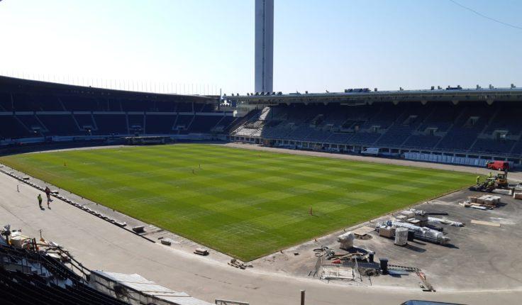 Olympiastadionin nurmikkokuvio maaliskuu 2020